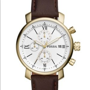 Fossil Men's Rhett chrono. brown leather watch